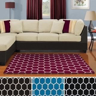 Superior Collection Hand Tufted Honeycomb Wool Rug (5'x8') (India)