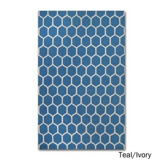 Superior Collection Hand Tufted Honeycomb Wool Rug (5'x8')