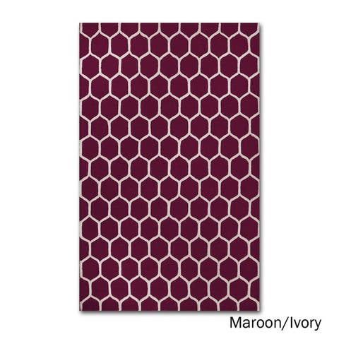 Superior Collection Hand Tufted Honeycomb Wool Rug (5'x8') (India) - 5' x 8'
