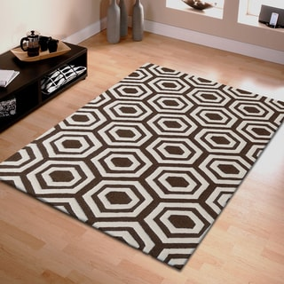Superior Collection Hand Tufted Geometric Wool Rug (5' x 8')