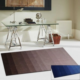 Superior Collection Hand Woven Faded Wool Rug (5'x8')