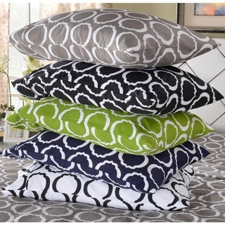 Superior Cotton Blend Scroll Park Pillowcases (Set of 2)