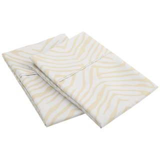 Superior Wrinkle Resistant Animal Print Microfiber Pillowcases (Set of 2)