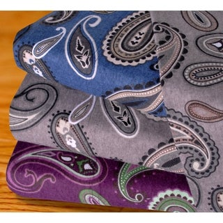 Superior Paisley Cotton Flannel Pillowcases (Set of 2) (4 options available)