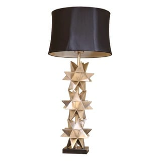 Somette Silver Stacked Star Table Lamp