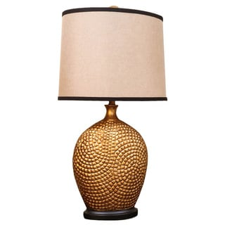 Bombay Outlet Bronze Textured Vase Table Lamp
