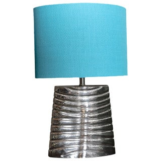 Bombay Outlet Weathered Glass Oval Table Lamp