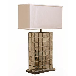 Somette Weathered Mirror Rectangular Table Lamp