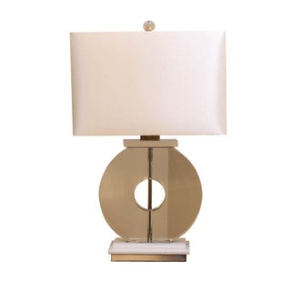 Bombay Outlet Crystal Ring with Marble Table Lamp