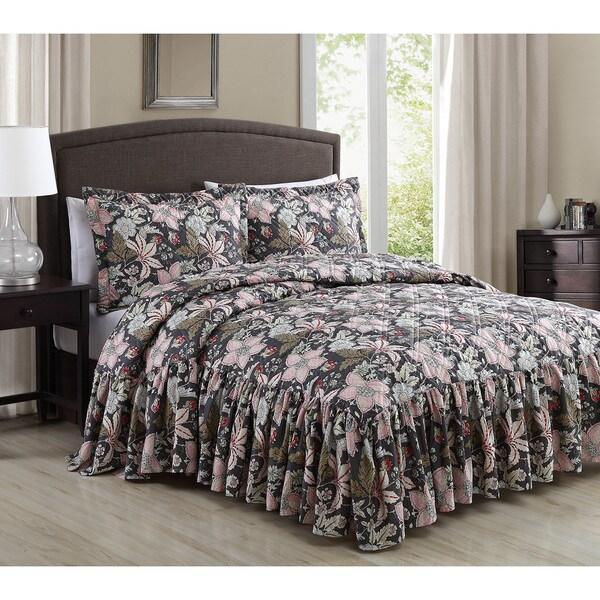 Annette Antique Floral 3-piece Bedspread Set
