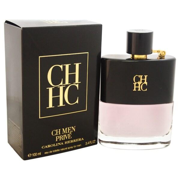 1720b2568 Shop Carolina Herrera CH Men Prive Men s 3.4-ounce Eau de Toilette Spray -  Free Shipping Today - Overstock - 11006722