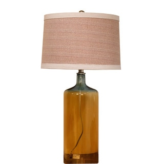 Bombay Amber Glass Jug Table Lamp Set