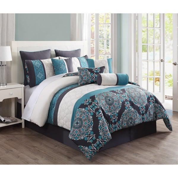 Justine Reversible 10-piece Comforter Set