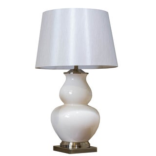Bombay Cream Porcelain Double Gourd Table Lamp