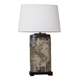Bombay Oval Archaic Map Table Lamp