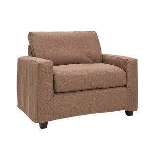 Bombay Hornell Pecan Chair-and-a-Half Slipcover