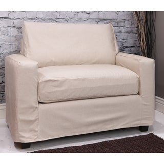 Somette Hornell Natural Chair-and-a-half Slipcover