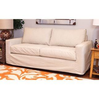 Somette Hornell Natural Sofa Slipcover