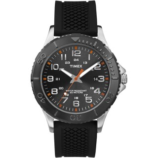 Timex Men's Taft Street Black Silicone Strap Watch