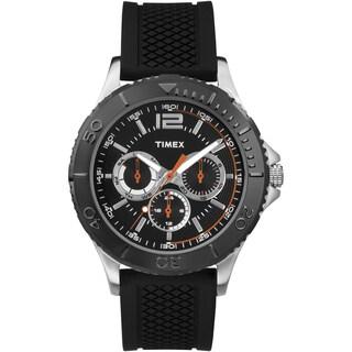 Timex Men's TW2P875009J Taft Street Multifunction Black Silicone Strap Watch