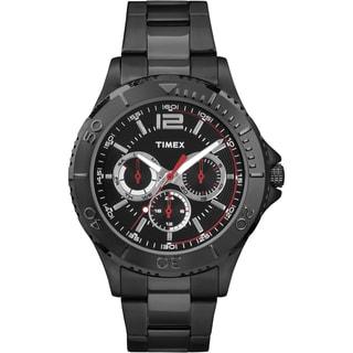 Timex Men's TW2P877009J Taft Street Multifunction Black Stainless Steel Bracelet Watch