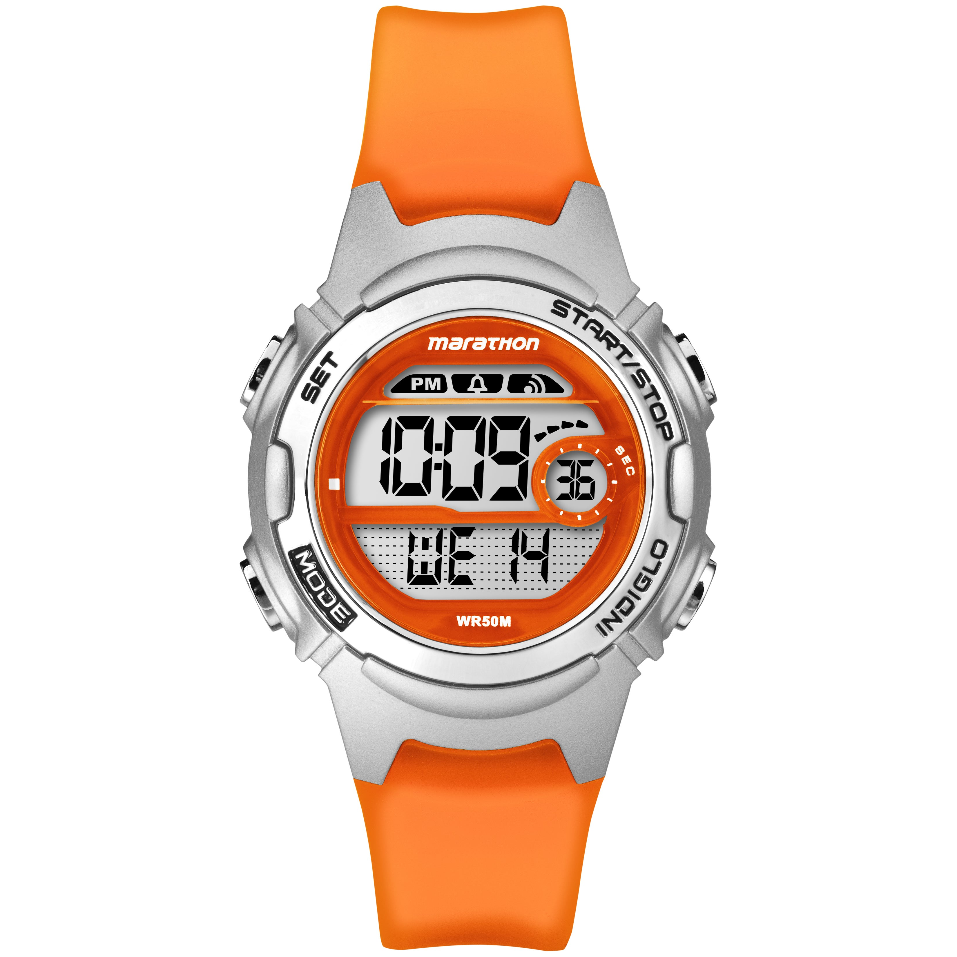 Marathon by Timex Women's TW5K96800M6 Digital Orange Watc...