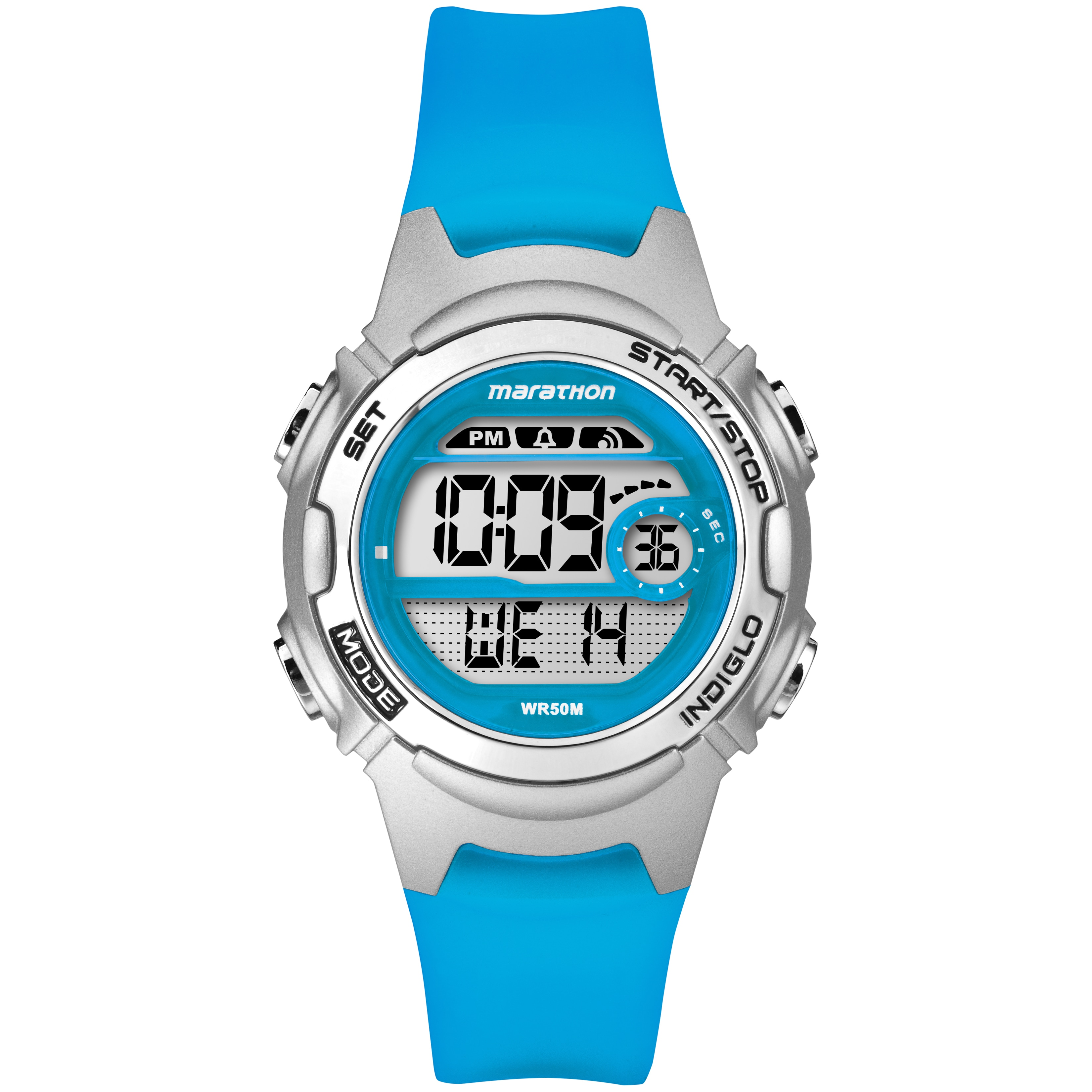 Marathon by Timex Women's TW5K96900M6 Digital Blue Watch ...