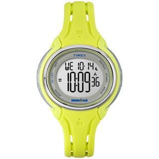 Timex Women's TW5K97700 Ironman Sleek 50 Lime Silicone Strap Watch