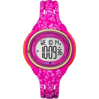 Timex Women's TW5M030009J Ironman Sleek 50 Pink Floral Watch