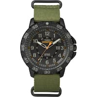 Timex Men's  Expedition Gallatin Green Nylon Slip-Thru Strap Watch