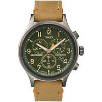 Timex Men's  Expedition Scout Chrono Tan Leather Slip-Thru Strap Watch