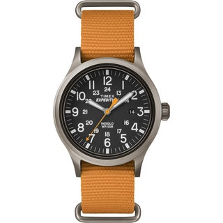 Timex Men's TW4B046009J Expedition Scout Orange Nylon Slip-Thru Strap Watch