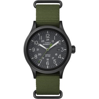 Timex Men's TW4B047009J Expedition Scout Green Nylon Slip-Thru Strap Watch