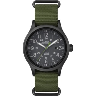 Timex Men's Expedition Scout Green Nylon Slip-Thru Strap Watch