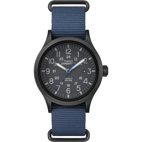 Timex Men's Expedition Scout Blue Nylon Slip-Thru Strap Watch