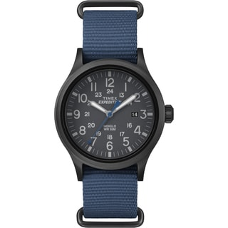 Timex Men's TW4B048009J Expedition Scout Blue Nylon Slip-Thru Strap Watch