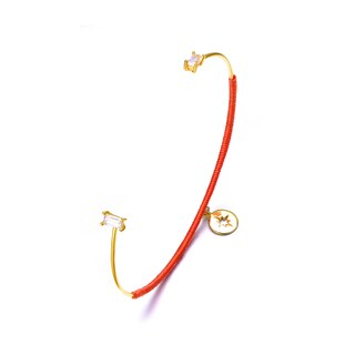 Alberto Moore Alberto Moore Goldplated Cadmium Orange Thread Keyhole Bangle