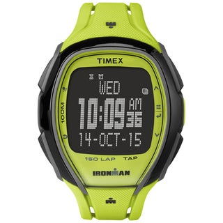 Timex Unisex TW5M004009J Ironman Sleek 150 Tapscreen Neon Green Watch