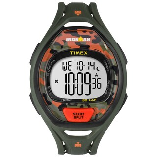 Timex Unisex TW5M012009J Ironman Sleek 50 Orange/Green Camo Watch