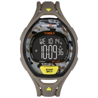 Timex Unisex TW5M013009J Ironman Sleek 50 Yellow/Gray Camo Watch