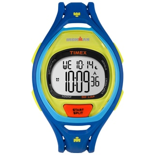 Timex Unisex TW5M016009J Ironman Sleek 50 Color Block Blue Watch