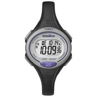 Timex Women's TW5K900009J Ironman Essential 30 Black/Purple Watch