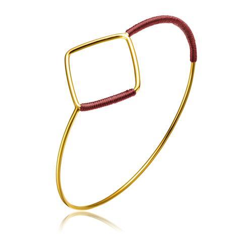 Alberto Moore Alberto Moore Goldplated Marsla Thread Diamond-shape Bangle
