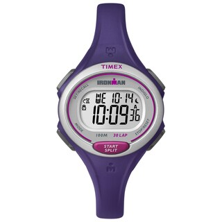 Timex Women's Ironman Essential 30 Purple Resin Strap Watch