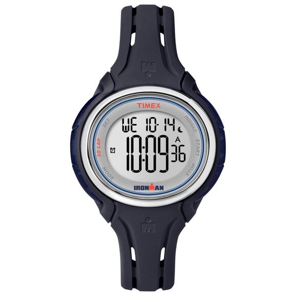 Timex Women's Ironman Sleek 50 Dark Blue Silicone Strap Watch