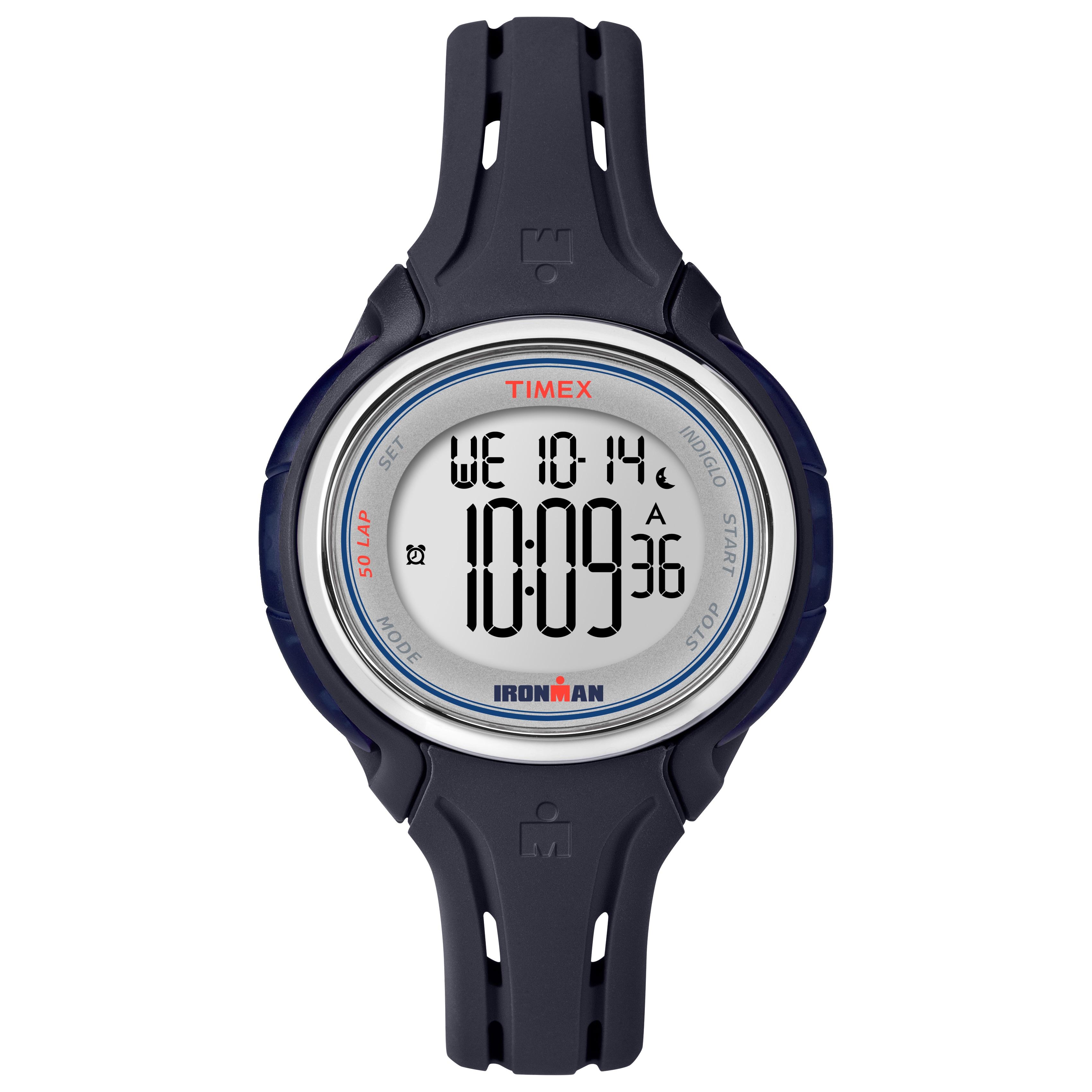 Timex Women's TW5K905009J Ironman Sleek 50 Blue Watch (Mi...