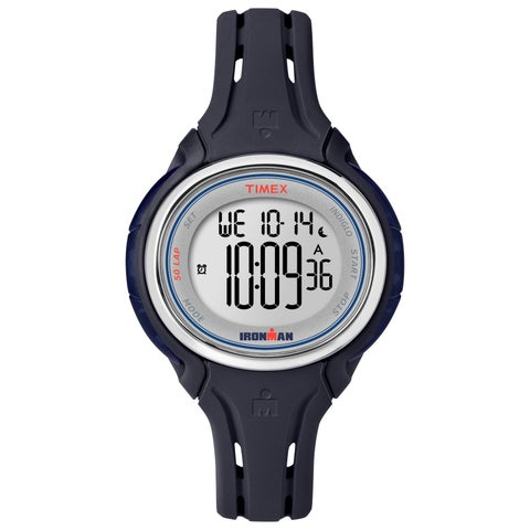 Timex Women's Ironman Sleek 50 Dark Blue Silicone Strap Watch