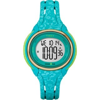 Timex Women's TW5M031009J Ironman Sleek 50 Blue Floral Watch