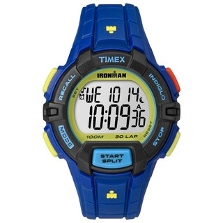 Timex Men's TW5M024009J Ironman Rugged 30 Blue Color Block Watch