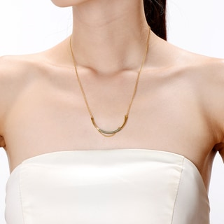 Alberto Moore Alberto Moore Goldplated Dried Herb Thread Curve Necklace